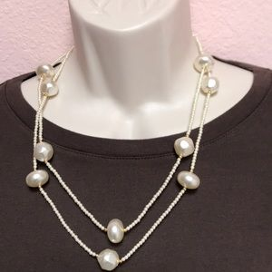 Uniquely Faux Pearl on Peal with Gold Accents